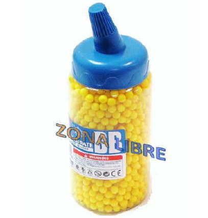 BB´S O PELLETS DE PVC 6MM PARA AIRSOFT GUNS MAMADERA 2000un