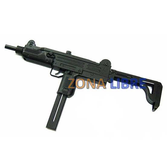 FUSIL AIRSOFT MODELO UZI ELECTRICO MARCA WELL