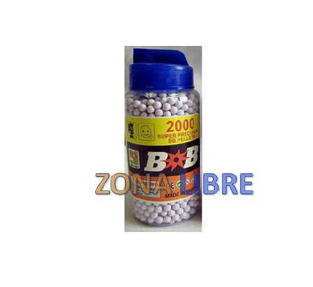 BB´S O PELLETS DE PVC 6MM 0.20g PARA AIRSOFT GUNS MAMADERA 2000u